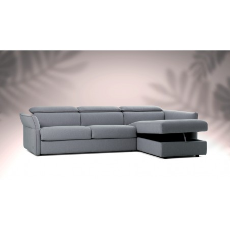 Canapé d'angle convertible chaise longue ODEON