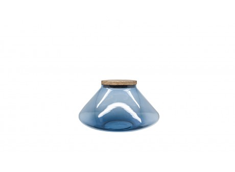 Pot en verre BLUE